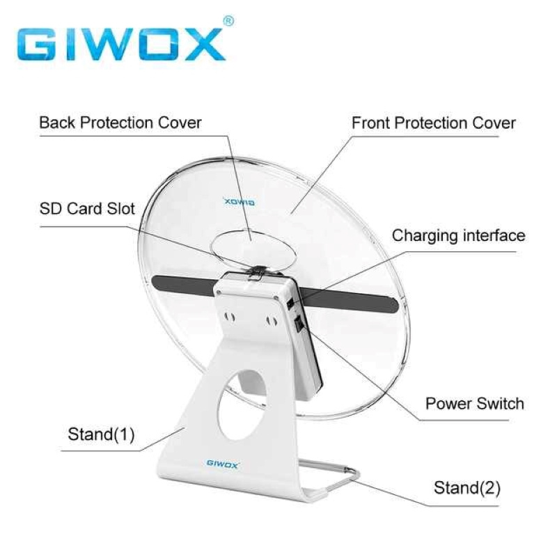 GIWOX 3D MINI Hologram Fan