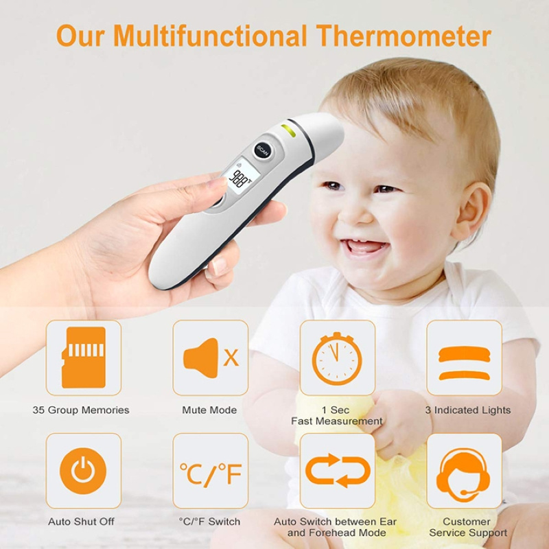 Infrared Forehead and Ear Thermometer