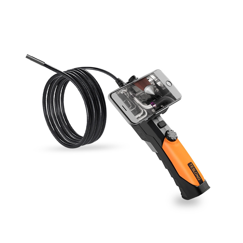 Teslong WF200 Wireless Inspection Endoscope Semi Rigid Probe, 1.0 Megapixel CMOS HD Camera, Made for iPhone iPad Android Smartphone PC