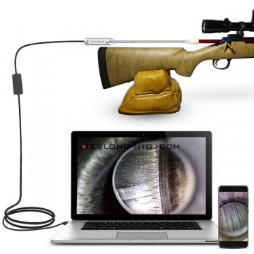 Teslong NTG100H Rigid Rifle Borescope with 1.0 Megapixel CMOS and 5mm camera included 3pcs side view mirrors NTG100H For Andriod,Windows,Mac
