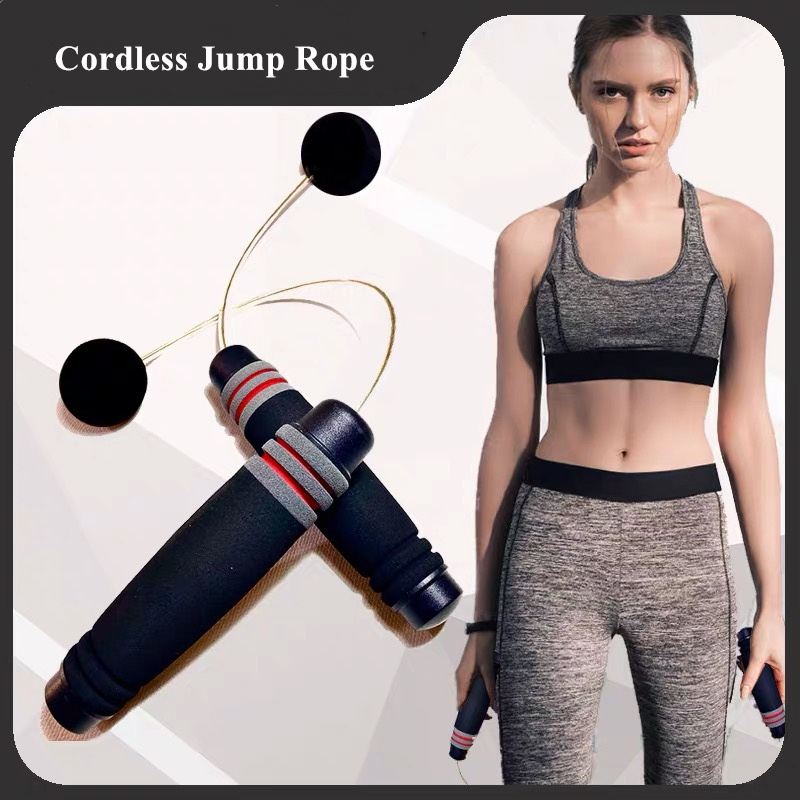 Hot Sale Body Building Training Wireless Jump Rope Fast Cordless Skipping Rope