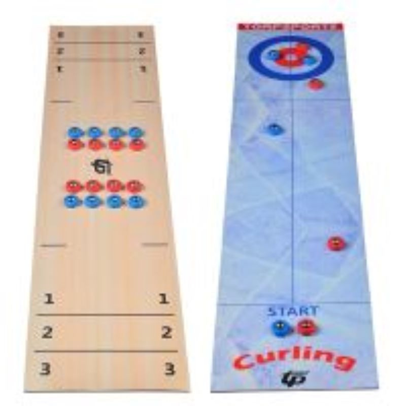 2 IN 1 Portable Tabletop Shuffleboard Curling Games for Outdoor Travel