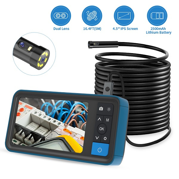 Teslong MS450 Inspection Camera with 4.5 inches IPS Screen