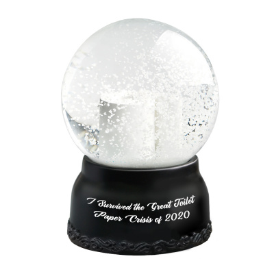 Christmas snow globe I Survived The Great Toilet Paper Crisis of 2020