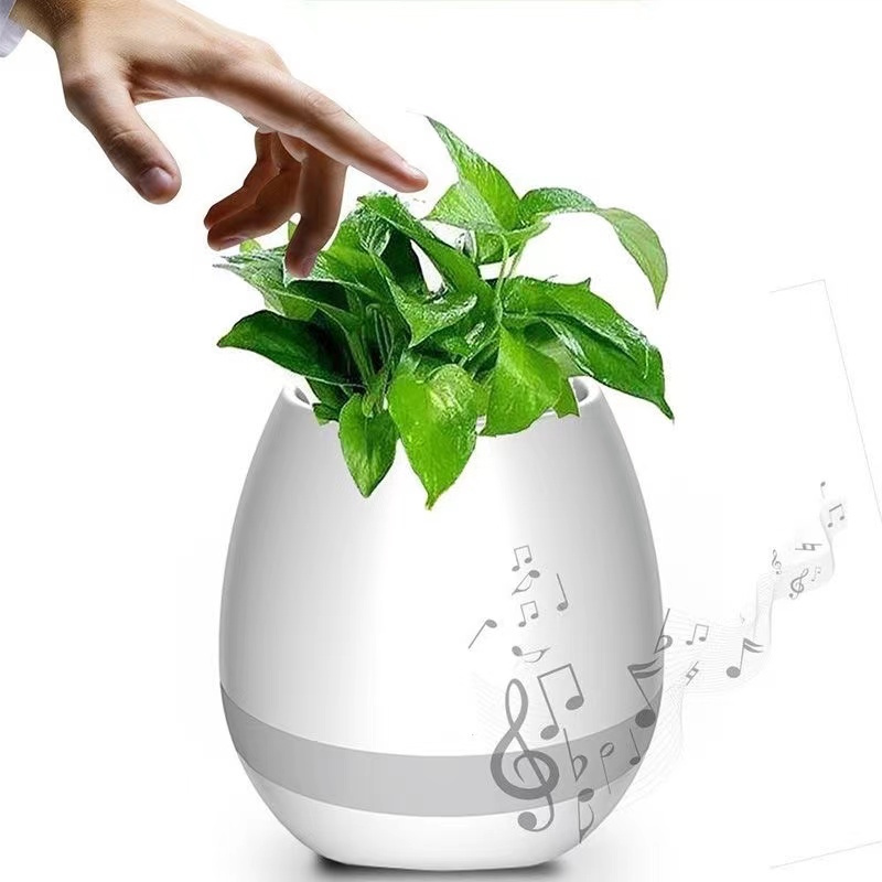 K3 4-in-1 Smart Music Flowerpot Bluetooth Speaker/ LED Night Light/Waterproof Plant Pot/Play Music on Plant