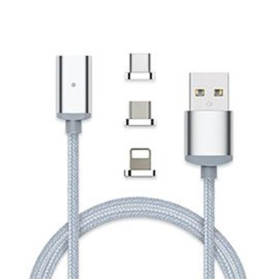 3 in 1 Magnetic Charging Cable Type C Micro USB Lightning