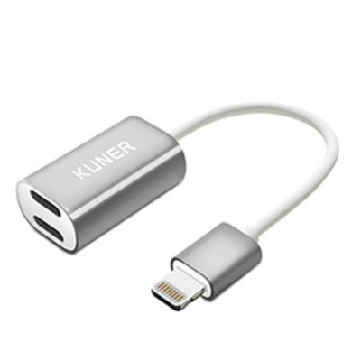 KUNER Kucable 2 in 1 Lightning Adapter with Charging and Audio(Metal)