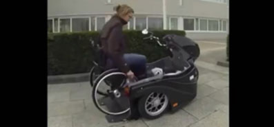 Motorbikes designed for wheelchair users